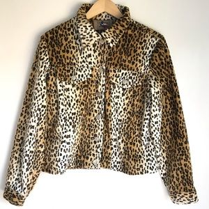 Leopard Punk Jacket Medium Don't Mess with Texas